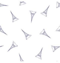 paris tower pattern vector image