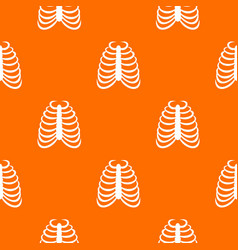rib cage pattern seamless vector image vector image