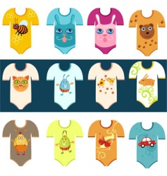 baby set vector image vector image