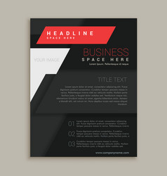 black brochure design template vector image vector image