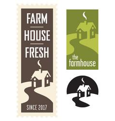 set of farmhouse logos vector image