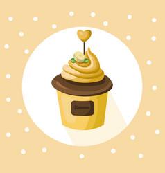 Banana cupcake muffin dessert vector