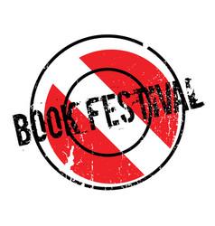 Book festival rubber stamp vector