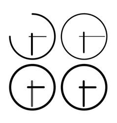 clock set black color four items vector image