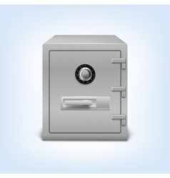 Safe with lock vector image