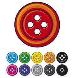 set of sewing buttons vector image vector image