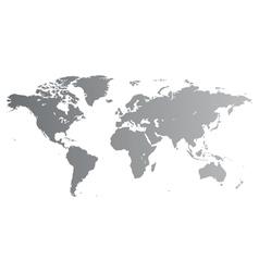 Silver world map vector