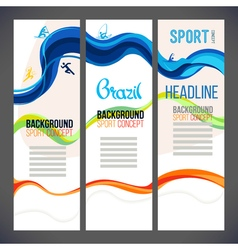 Sport abstract template design brochure Web sites vector image vector image