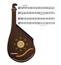 Ukrainian musical instrument vector image