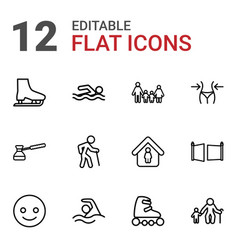 12 figure icons vector