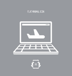 airline web services icon vector image
