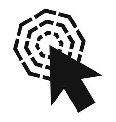 arrow cursor click icon simple black style vector image