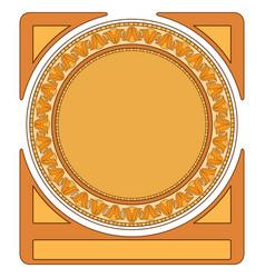 Art deco circle bordervintage geometric frame vector