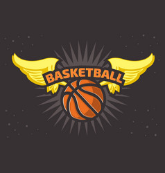 basketball themed t shirt print design basketbal vector image