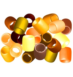 Beads cut out vector