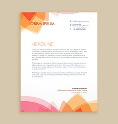 beautiful letterhead design vector image