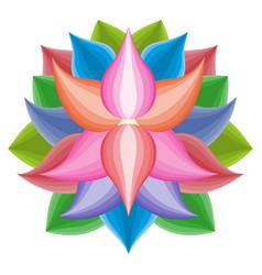 Beautiful lotus flower symbol colorful vector
