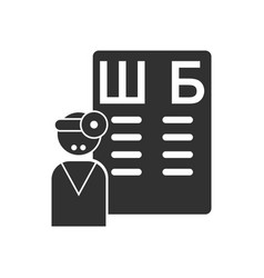 black icon on white background ophthalmologist vector image