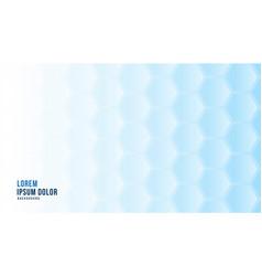 Blue 3d hexagonal background medical concept vector
