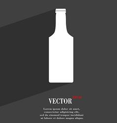 bottle icon symbol Flat modern web design with vector image