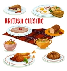 British cuisine breakfast icon for menu design vector