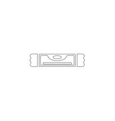 bubble level flat icon vector image