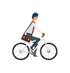 businessman hurrying to the job vector image