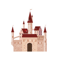 castle fortress ancient architecture middle vector image