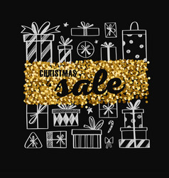 christmas and new year sale banner concept vector image