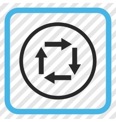 Circulation Arrows Icon In a Frame vector