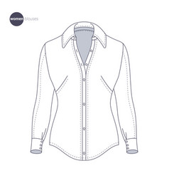 Clothes thin line style vector