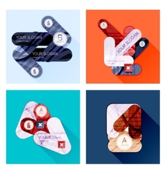 Collection of Flat Infographic Layouts vector image