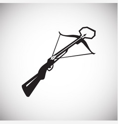 Crossbow icon on white background for graphic and vector