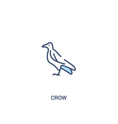 Crow concept 2 colored icon simple line element vector