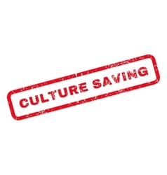 Culture Saving Text Rubber Stamp vector