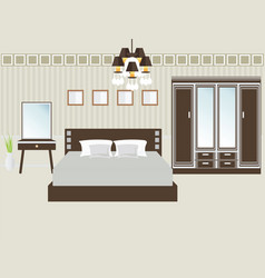 design double bedroom vector image