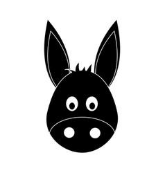 Donkey cute animal cartoon icon image vector