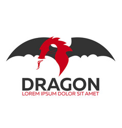 Dragon logo chinese dragon flat vector