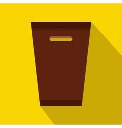 Dustbin icon flat style vector