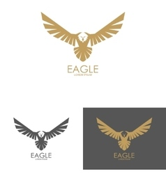 Eagle mark isolated on white background vector