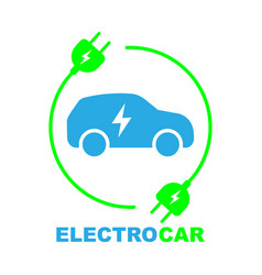 electric car on charging station vector image