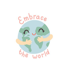 embrace world vector image