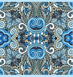 ethnic hand drawn color seamless pattern vector image