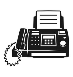 Fax prints icon simple style vector