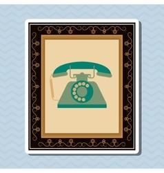 Flat about vintage phone design vector