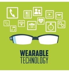 Glasses and wearable technology design vector