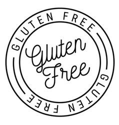 Gluten free stamp on white vector