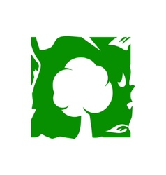 Green tree sign vector image