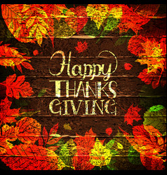 Happy thanksgiving holiday banner vector