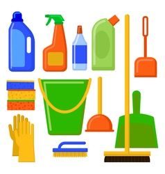 House cleaning tools Cleaning elements Home vector image